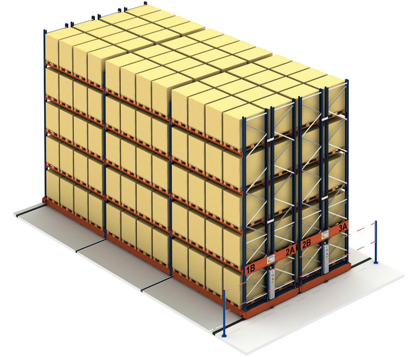 移动式货架利用率高又安全倍受欢迎
